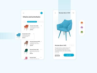 Furniture Mobile App Design ui ui  ux design mobile design uidesign mobile app design trendy ecommerce app online store online shop beauty app shopping card modern app ui app app design mobile app