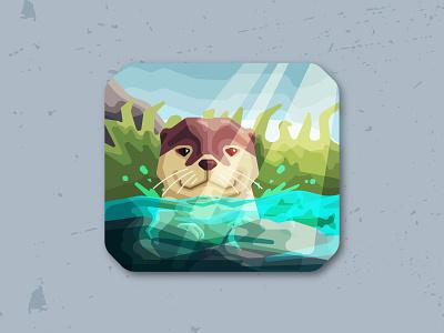 Otter Vector Illustration adobeillustrator vectors artwork otter animalillustration animal art animal artist vectorillustration vectorartwork vectorart vector illustrator icon illustration graphicarts