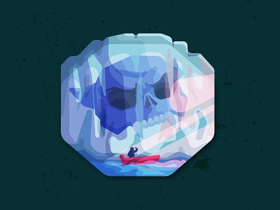 Giant Skull in Glacier Vector Illustration frozen ice glacier vectors artwork artist skull skull art adobeillustator graphicartist illustrator vectorillustration vectorartwork vectorart vector icon illustration graphicarts