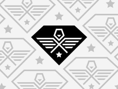 LEGION WIP design diamond tire bird eagle shield crest iteration logo brand