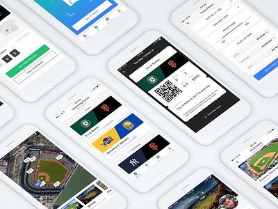 Ticket App Updates purchase ecommerce mockup design sport event ios ux ui mobile ticket app