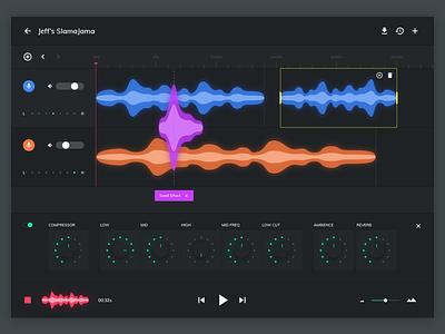 Music Composer Concept color concept control app web dark compose ux ui music