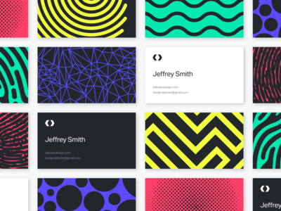 Personal Brand Exploration design typography line shape explore pattern print brand cards business cards color