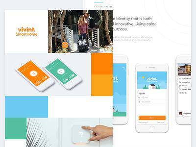 Vivint.SmartHome Case Study smart home logo hero mobile portfolio web ios app ux ui study case
