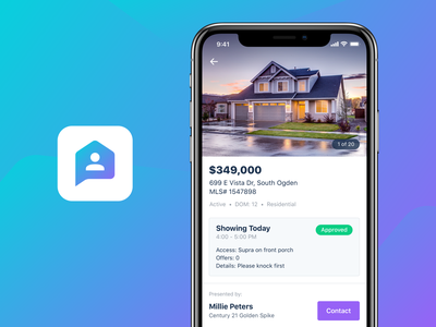 Proxy Real Estate Showings App iphone typography color design interface mobile ios real app icon ux ui real estate app