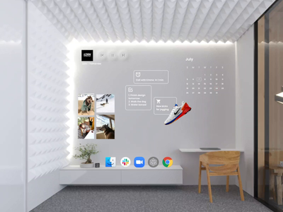Home Office in Mixed Reality vr virtual reality 3d virtual desktop call office mixed reality mr uxmr ar ui