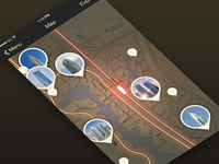 Map Screen | App for tourists in Dubai