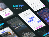 Move | Mobile UI Kit. Free iOS screens for Sketch
