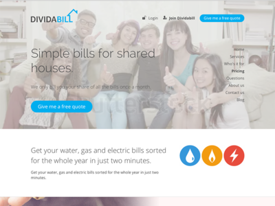 Dividabill Home page
