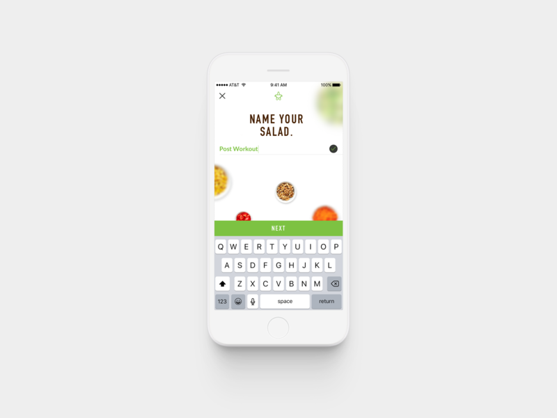 Sumo Salad / Customize Your Salad product design design ux ui app