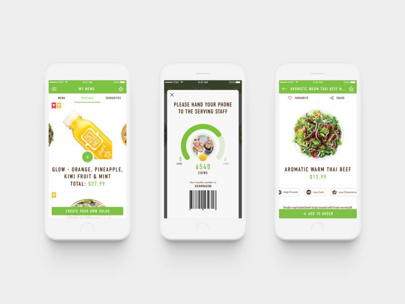 Sumo Salad ux ui product design design app