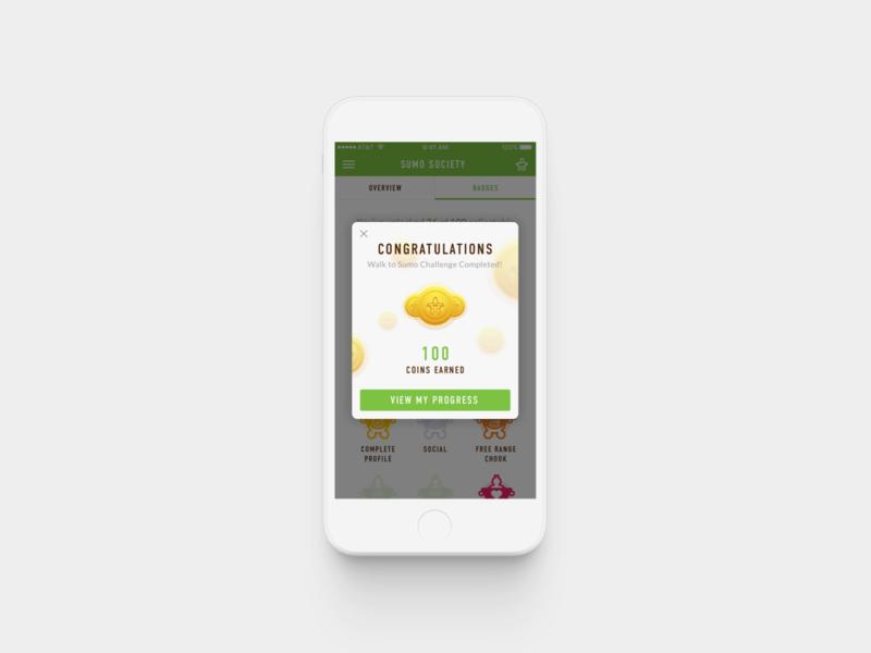 Sumo Salad / Congrats! ux ui product design design app