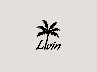 Livin Palm logo brand design illustration design minimal typography freelance icon design branding