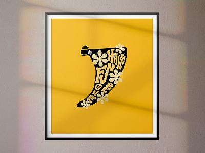 The Groovy Fin icon illustration apparel design freelance branding typography minimal design