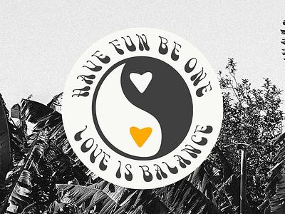 Love is balance branding design minimal typography sticker design sticker