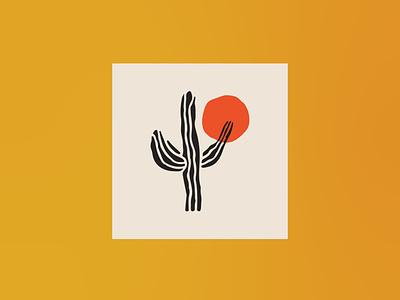 Hippie Cactus - Logo illustration hand drawn icon brand design vector illustration design freelance branding minimal design