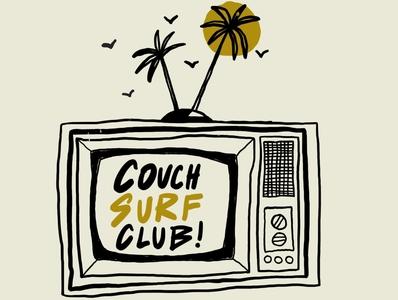 COUCH SURF CLUB apparel design hawaii hand drawn vector illustration brand design freelance branding minimal design