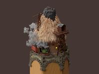 Charcoal mine 3d art