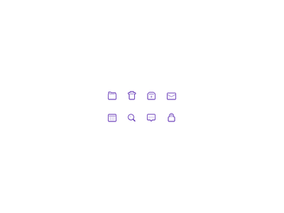Thick Icons mail thick 24px icons