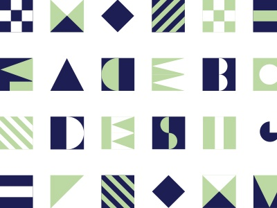 Color variation nautical pattern geometric design typography