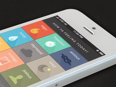 Live half full app illustration flat iphone design iconography mood