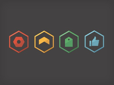 F8 Icons icons f8 iconography systems flat hexagon identity logos