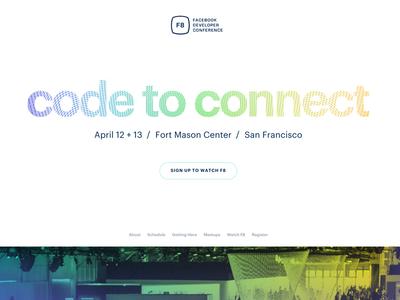 F8 2016 Facebook Developer Conference Website responsive design f8 conference event facebook brand color design website