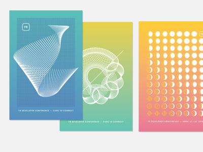 F8 Postcard Series f8 curves gradient design postcard