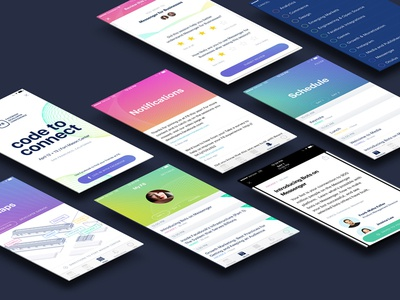 F8 Conference iOS + Android App product design f8 gradient conference event app