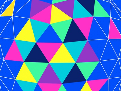 F8 2017 Brand pattern globe wireframe geometric triangles