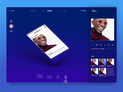Photo editor app messaging desktop ui ux