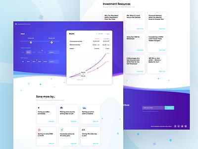 Investment Calculator ui ux web mobile desktop app
