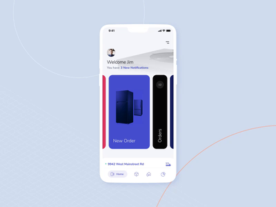 Home Page Interaction ui ux app animation mobile
