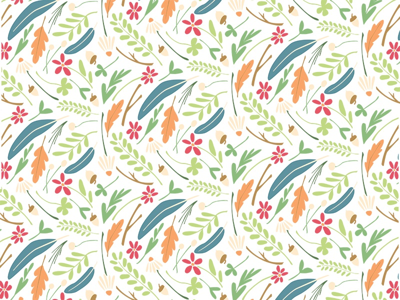 Meadow Scatter Pattern - Small by Erin Jackel on Dribbble