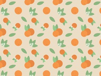 Vintage Florida Oranges Pattern