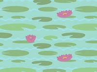 Vintage Lily Pad Pattern Detail