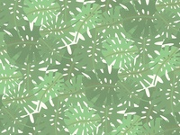 Vintage Florida Palm Fronds Pattern