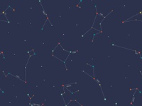 Zodiac Constellation Pattern - Detail