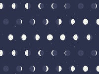 Detail of Waxing and Waning Moon Pattern