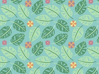 Tropical Jungle Pattern - Detail