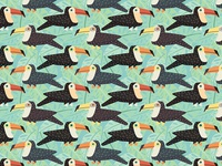 Toucan Tile Pattern Detail