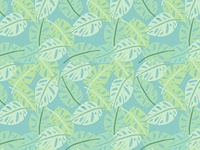 Jungle Foliage Pattern Detail