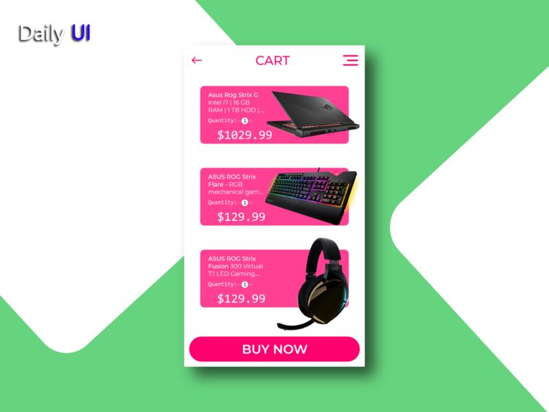 Daily UI #058 | Shopping Cart web shopping cart 058 app ux uidesign ui design daily ui dailyui daily 100 challenge daily