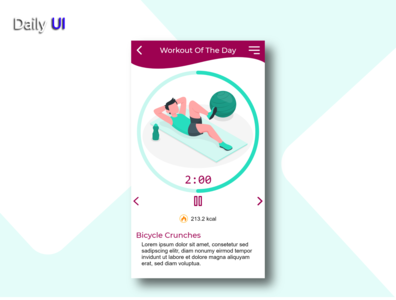 Daily UI #062 | Workout of the Day web workout of the day 062 app ux uidesign ui design daily ui dailyui daily 100 challenge daily