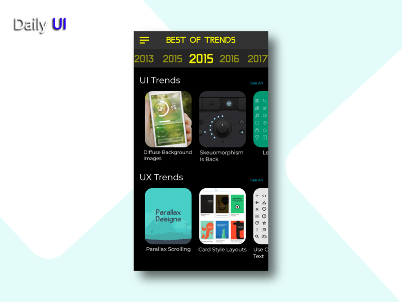 Daily UI #063 | Best Of 2015 best web trend best of 2015 app ux uidesign ui design daily ui dailyui daily 100 challenge daily