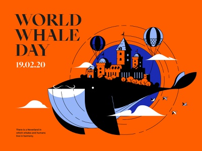 February 19th : World Whale Day game fantasy flying castle design illustration epic agency epic world whale day whale