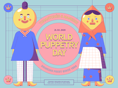 March 21st : World Puppetry Day epicagency epic agency epic tchantches puppet cartoon design illustration