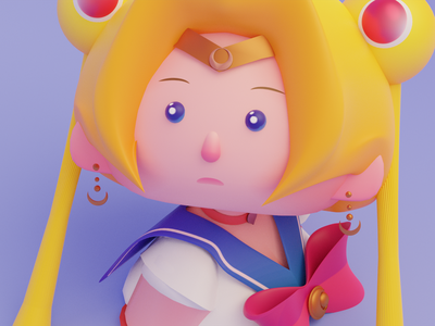 Sailormoon redraw sailormoonredraw character design render blender chibi illustration 3d