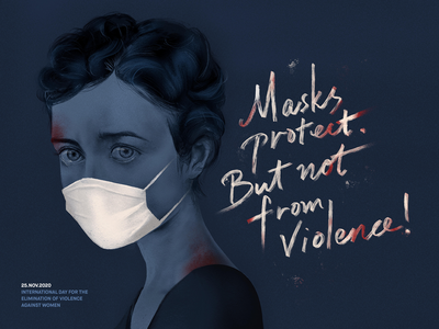 November 25th: Day for the Elimination of Violence against women digital painting painting procreate illustration mask feminist feminism violence