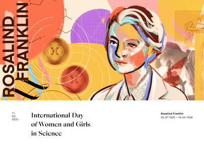 February 11th: International day of women and girls in Science collage painting illustration procreate digital painting epicdays science scientist women